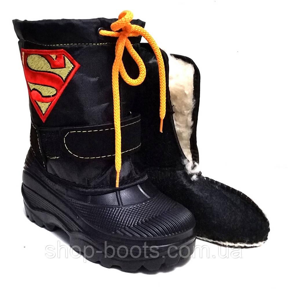 Детские бахилы с вставкой супермен. 28-37рр. Модель Garmass 1