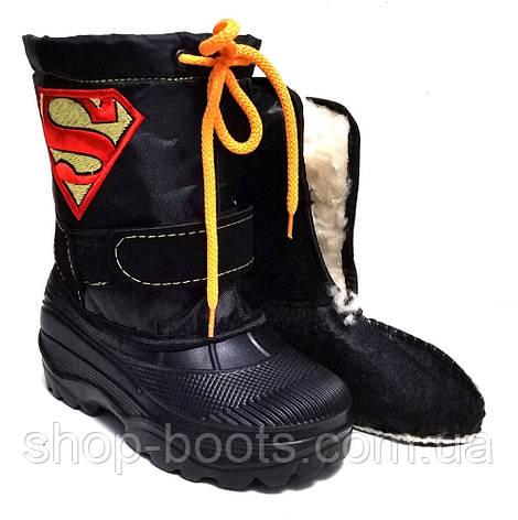 Детские бахилы с вставкой супермен. 28-37рр. Модель Garmass 1, фото 2