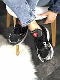 Женские кроссовки Adidas Falcon (black/grey/white) Реплика ААА, фото 4