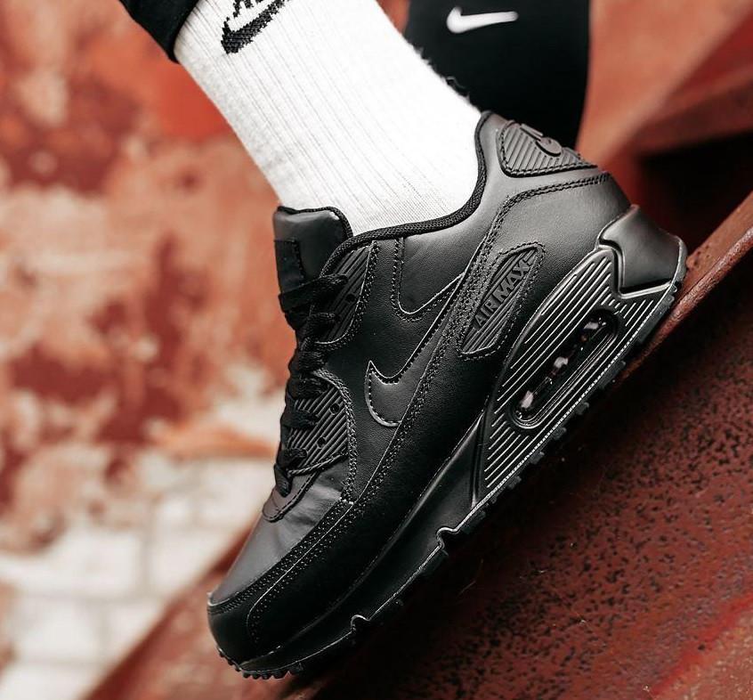 Чоловічі кросівки Nike Air Max 90 Black | Найк Аір Макс 90 Чорні