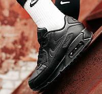 Чоловічі кросівки Nike Air Max 90 Black | Найк Аір Макс 90 Чорні, фото 1