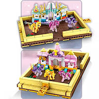 Детская книга-конструктор SY1497 Little Pony, набор-конструктор для девочки, 546 деталей, от 6 лет
