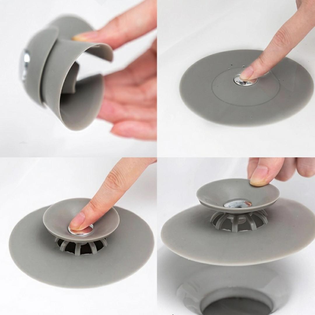 Фильтр заглушка для раковины Пробка для ванны силиконовая