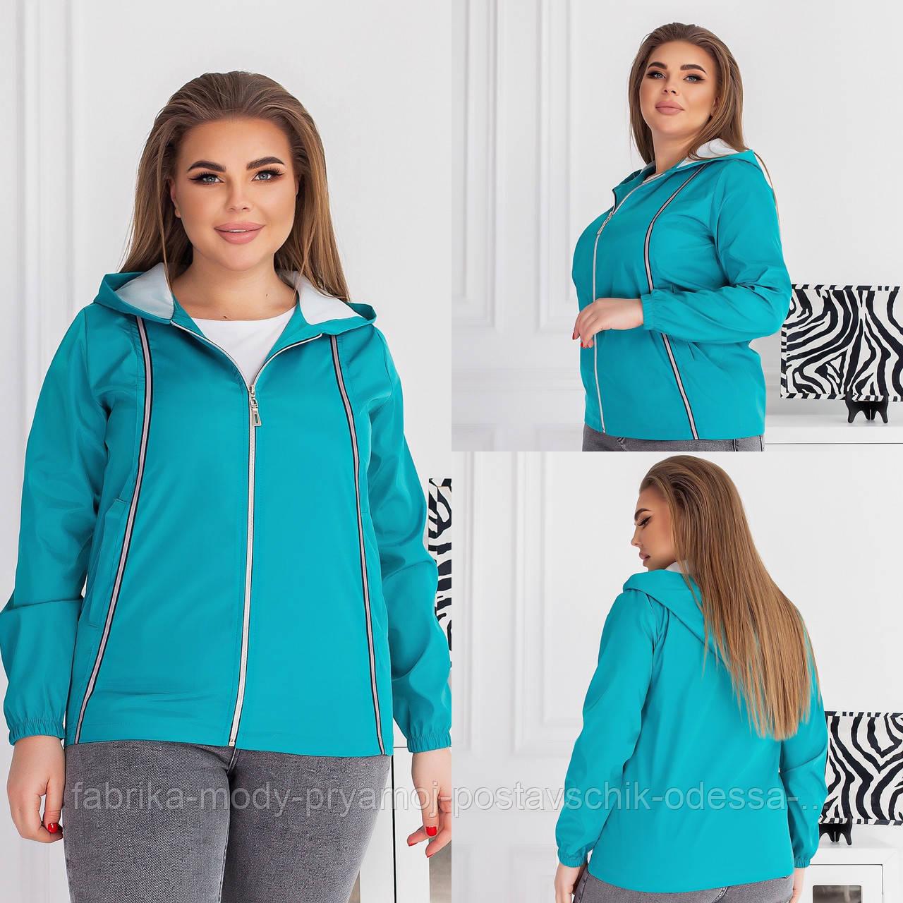 Куртка вітровка з капюшоном плащівка Елла