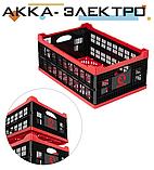 Ящик складной, пластиковый, загрузка 30 кг, 47 л., 600*400*260 мм, фото 5