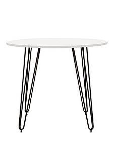 Стол обеденный круглый Aller H18 каркас black, столешница ДСП Белая Ø90 (Новый Стиль ТМ)