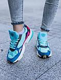 Женские кроссовки Adidas Falcon blue (Реплика ААА), фото 4
