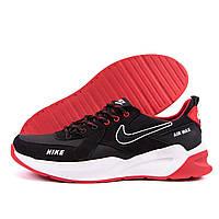 Мужские кожаные кроссовки Nike Black AIR MAX (реплика), фото 1
