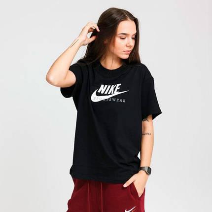 Футболка жіноча Nike Sportswear Heritage CZ8612-010 Чорний, фото 2