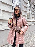 Женская стёганная Куртка- это must have нынешнего сезона (сливочный, беж, чёрный, небесный, С(42-46), М(46-50), фото 1