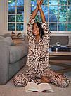 Сатинова Піжама Victoria's Secret The Satin PJ, Леопард, фото 2