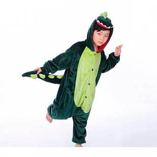 Детская пижама кигуруми Динозавр 140 см