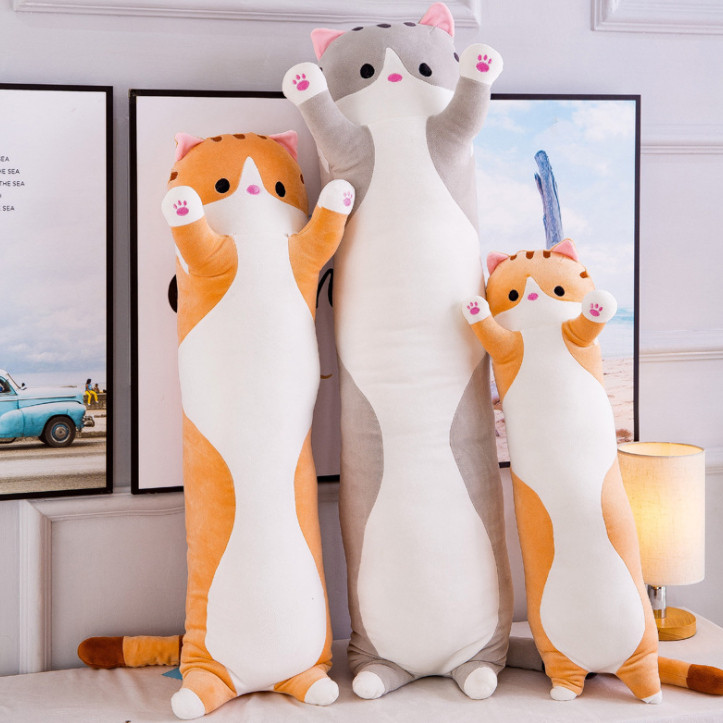 Мягкая игрушка подушка обнимашка кот антистресс