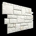 Фасадна панель Dockе камінь Колекція BURG БІЛИЙ 1,072 * 0,472 цокольний сайдинг
