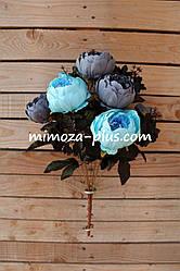 Искусственные цветы - Пион букет, 51 см