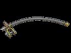 Шланг подкачки внутреннего колеса 350 мм (удлинитель вентиля металлооплётка + крепление + латунь  наконечник), фото 3