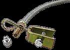 Шланг подкачки внутреннего колеса 350 мм (удлинитель вентиля металлооплётка + крепление + латунь  наконечник), фото 4