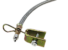 Шланг подкачки внутреннего колеса 350 мм (удлинитель вентиля металлооплётка + крепление + латунь  наконечник), фото 5