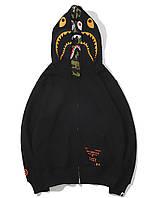 Худи Bape чёрный (толстовка, кофта бейп мужская женская унисекс с капюшоном)