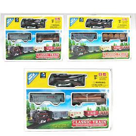 ЗАЛІЗНИЧНИЙ 1088-8A-8B (36шт) диам68см,локомотив,2вагона,світло,3 види, в кор-ке, 30,5-21,5-4см
