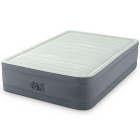 Велюр ліжко 64904 (2шт) 137-191-46см, вбудований насос 220V, оливково-сірий,в кор-ке,