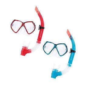 BW Набір для плавання 24030 (6шт) маска, трубка, 2цвета,