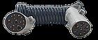 Кабель електричний поліуретановий спіральний 7 метрів + (2 вилки на 7 виходів) (N - тип), фото 3