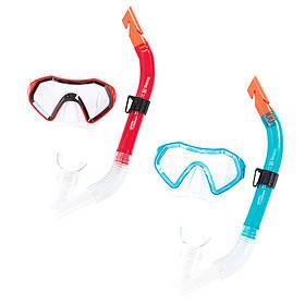 BW Набір для плавання 24025 (6шт) маска, трубка, 2цвета,