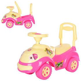 Машина для катания ЛУНОХОДИК розовая ОРИОН 174 (670x290x460 мм)