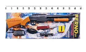 Берно ПФ игрушечный пистолет с четырьмя мягкими пулями, оптикой, игрушечными рацией и гранатой, безопасным