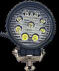 LED фара круглая 27W, 9 ламп, широкий луч 10/30V 6000K, фото 7