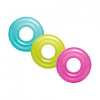 Круг для плавания надувной Intex 59260 однотонный, 76см, 3 цвета, фото 1