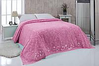Махрове простирадло 200*220 бавовна Zeron рожева, фото 1