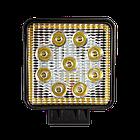 Фара LED квадратная 27W (+ LED кольцо), фото 2