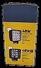 LED фара круглая 42W, 14 ламп, широкий луч 10/30V 6000K, фото 7