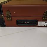 Вініловий програвач/програвач платівок auna коричневий колір з Bluetooth, фото 4