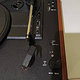 Вініловий програвач/програвач платівок auna коричневий колір з Bluetooth, фото 2