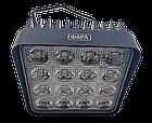 LED (Лед) фара квадратная 48W, (16 диодов х 3 ват = 48 Ват), широкий луч 10/30V 6000K, фото 2