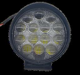 Фара LED круглая 42W (широкий луч) 3D линза