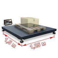 Платформні ваги 1250х1500 мм 1500 кг