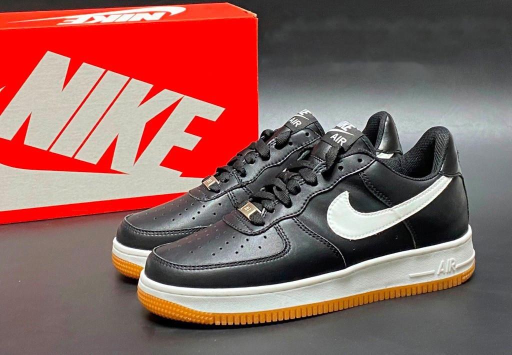 Чоловічі кросівки Nike Air Force Af 1, чорні / кросівки Найк Аір Форс (Топ репліка ААА+)