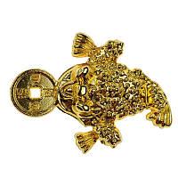 Фігурка Трехлапая жаба довжина 3,5 см золотиста (C2566)