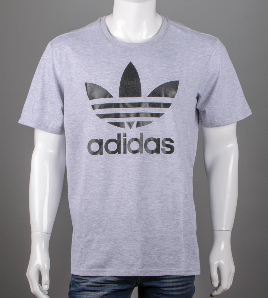 Футболка 3XL, 4XL большие размеры батал оптом Adidas (2112б), Серый меланж