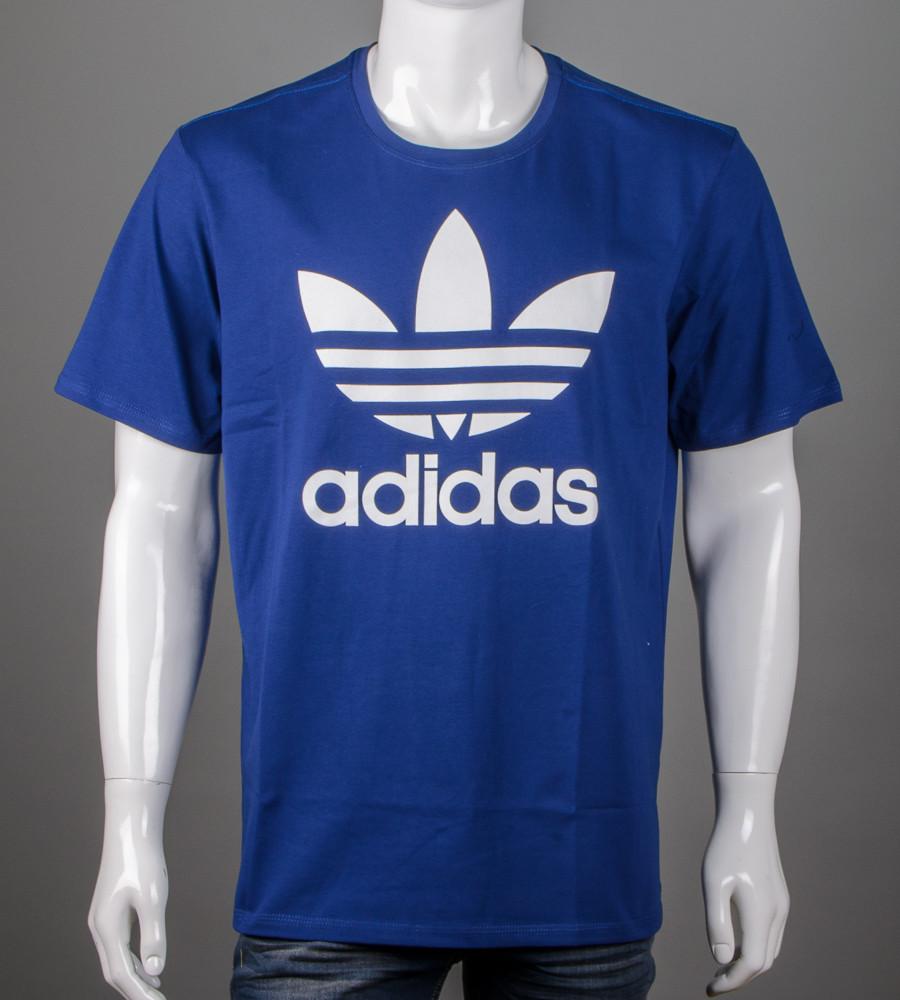 Футболка мужская 3XL, 4XL большие размеры батал оптом Adidas (2112б), Синий