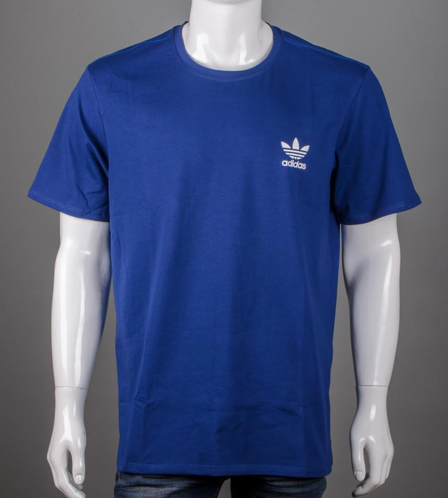 Футболка чоловіча батал Adidas (2111б), Синій