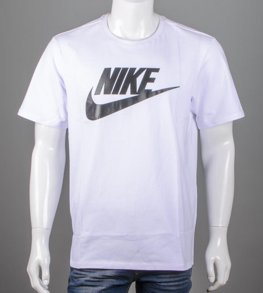 Футболка мужская 3XL, 4XL большие размеры батал оптом Nike (2110б), Белый