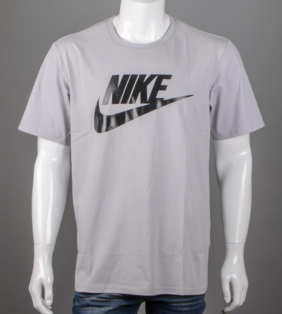 Футболка чоловіча батал Nike (2110б), Св.Сірий