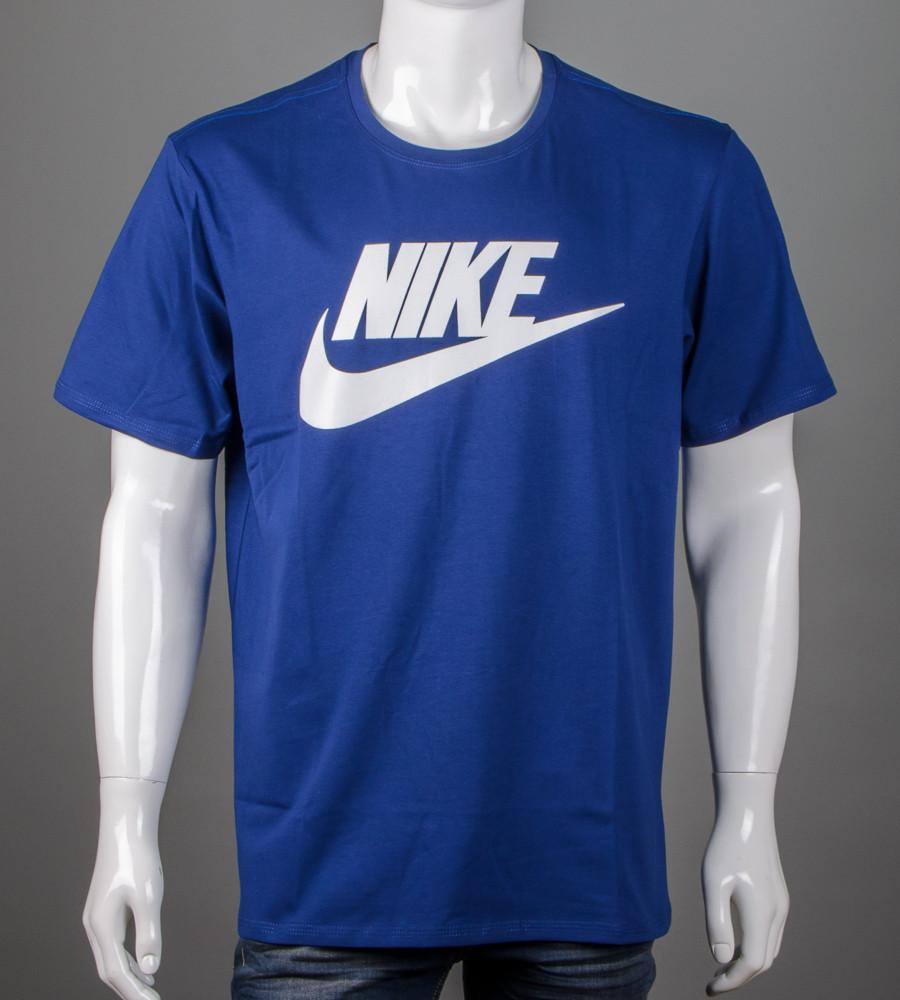 Футболка мужская 3XL, 4XL большие размеры батал оптом Nike (2110б), Синий