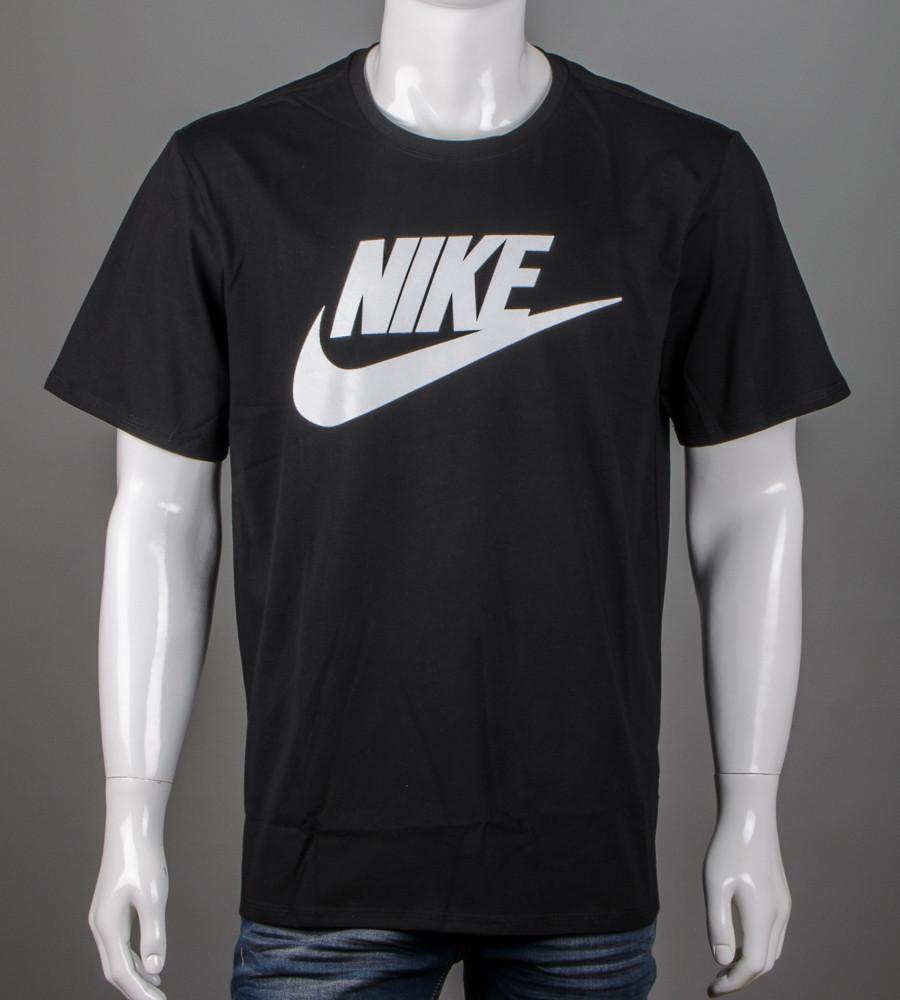 Футболка чоловіча батал Nike (2110б), Чорний