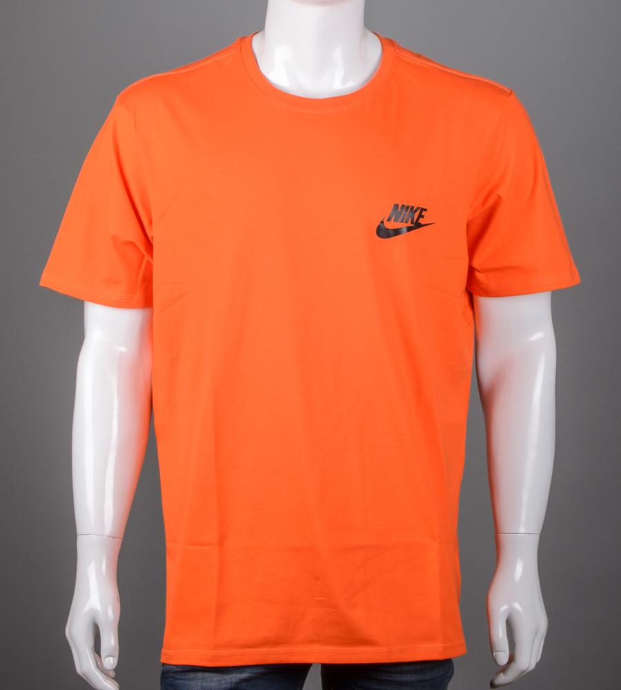Футболка чоловіча батал Nike (2109б), Морквяний